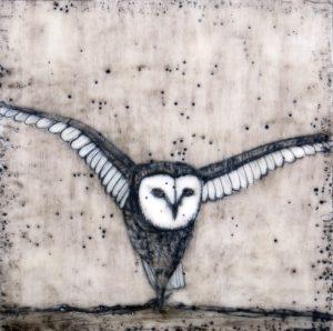 wings unbroken Jessie Benson owl beeswax